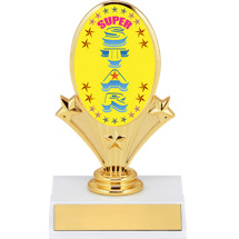 "5 3/4"" Super Star Oval Riser Trophy"