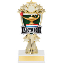 "7 1/2"" Lamp of Learning and Stars Trophy"