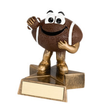 4 in. Resin Happy Football Trophy