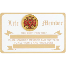 Volunteer Firefighter Membership Card