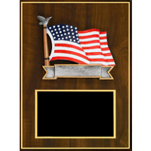 "9 x 12"" American Flag Casting Plaque"