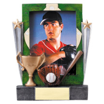 "Baseball Trophy - 7 1/4"" Baseball Full Color Resin Photo Award"