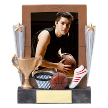 "7 1/4"" Basketball Full Color Resin Photo Award"