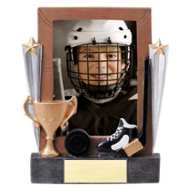 "7 1/4"" Hockey Full Color Resin Photo Award"