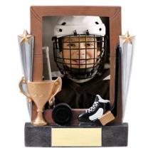 """7 1/4"""" Hockey Full Color Resin Photo Award"""