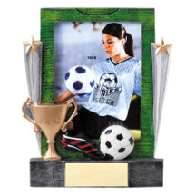 "7 1/4"" Soccer Full Color Resin Photo Award"