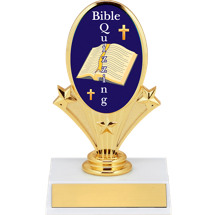 "5 3/4"" Bible Quizzing Oval Riser Trophy"