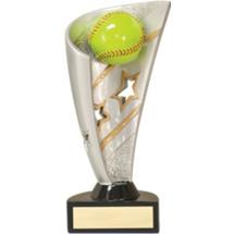 "7"" 3D Resin Softball Award"
