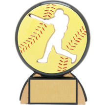 "4 1/2"" Female Softball Shadow Resin Award"