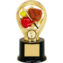 "5"" Colorful Softball Riser Trophy"