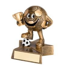"Soccer Trophy - 4"" Resin Happy Soccer Trophy"