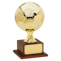 "Soccer Trophy - 15"" Gold Finish Soccer Ball Trophy"