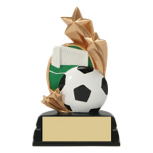 "Soccer Trophy - 6"" Colorful Resin Soccer Award"