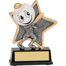 "5"" Little Pal Resin Baseball Award"