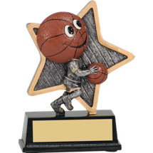 "Basketball Trophy - 5"" Little Pal Basketball Resin Award"