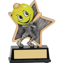 "5"" Little Pal Resin Softball Award"