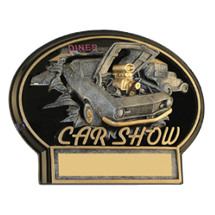 "7 x 5 1/2"" Car Show 3D Resin Trophy"