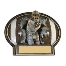 "6"" x 4 1/2"" Football 3D Resin Trophy"