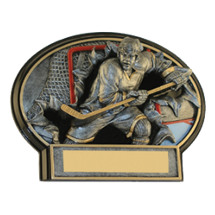 "6 x 4 1/2"" Hockey 3D Resin Trophy"