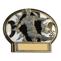 "6 x 4 1/2"" Female Soccer 3D Resin Trophy"