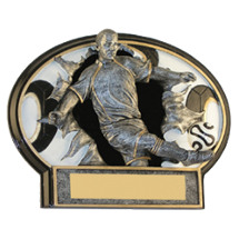 "6 x 4 1/2"" Male Soccer 3D Resin Trophy"
