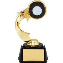 "7"" 3D Hockey Emblem Trophy with Star Riser"