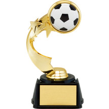 "Soccer Trophy - 7"" 3D Soccer Emblem Trophy with Star Riser"