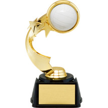 "7"" 3D Volleyball Emblem Trophy with Star Riser"