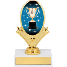 "5 3/4"" Achievement Trophy Oval Riser Trophy"