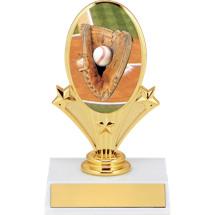 """5 3/4"""" Baseball Oval Riser Trophy"""