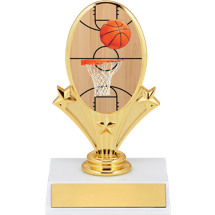 "5 3/4"" Basketball Oval Riser Trophy"
