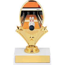 "5 3/4"" Bowling Oval Riser Trophy"