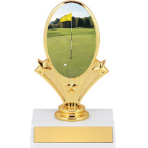 "5 3/4"" Golf Oval Riser Trophy"