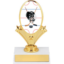 "5 3/4"" Hockey Oval Riser Trophy"