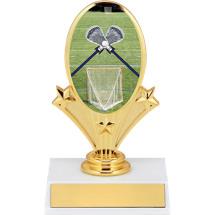 """5 3/4"""" Lacrosse Oval Riser Trophy"""