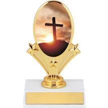 "5 3/4"" Religion Oval Riser Trophy"