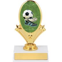 """5 3/4"""" Soccer Oval Riser Trophy"""