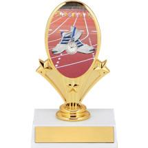 """5 3/4"""" Track Oval Riser Trophy"""