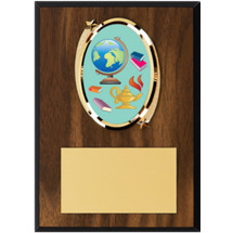 "Education Plaque - 5 x 7"" Oval Emblem Plaque"