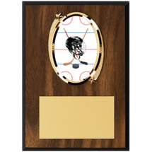"5 x 7"" Oval Hockey Emblem Plaque"