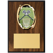 "Lacrosse Plaque - 5 x 7"" Oval Emblem Plaque"