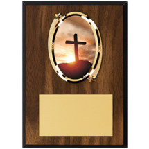 "5 x 7"" Oval Religion Emblem Plaque"