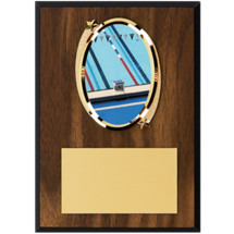"Swim Plaque - 5 x 7"" Oval Emblem Plaque"
