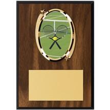 "Tennis Plaque - 5 x 7"" Oval Emblem Plaque"