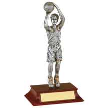 "Basketball Trophy - Male - 7 1/2"" Resin Trophy"