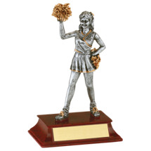 "6"" Cheerleader Resin Female Trophy"