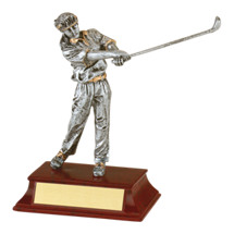 "6"" Female Golf Resin Trophy"