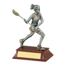 "Lacrosse Trophy - Female - 6"" Resin Trophy"