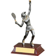 "Tennis Trophy - Female - 8"" Resin Trophy"