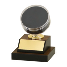 "6"" Hockey Puck Display Trophy"